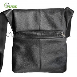Сумка кожаная плечевая с кобурой A-line А40, черная