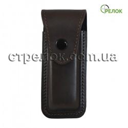 Кожаный чехол Стрелок для складного ножа (коричневый)