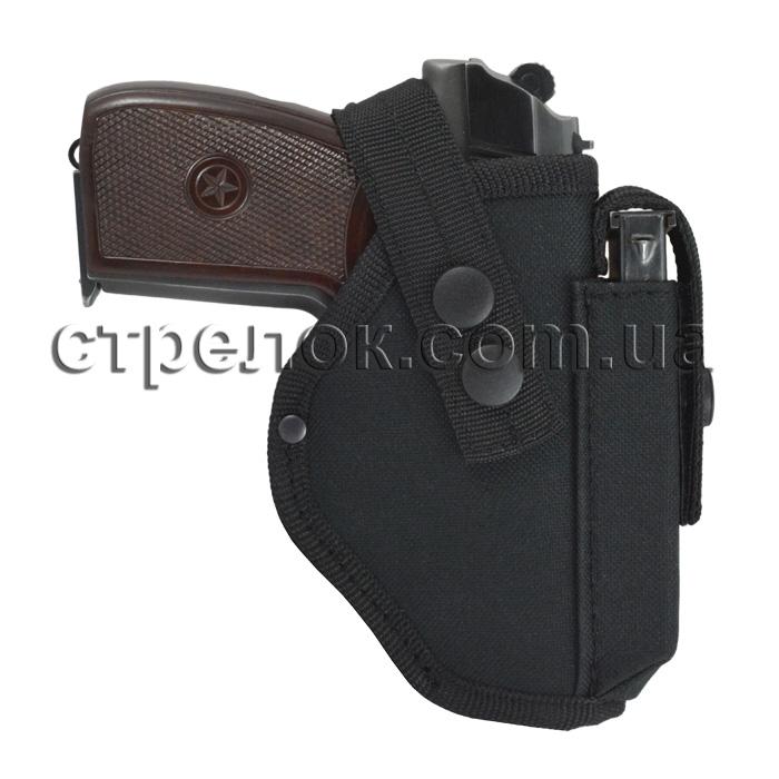 Кобура поясная Стрелок для ПМ с подсумком под магазин, черная