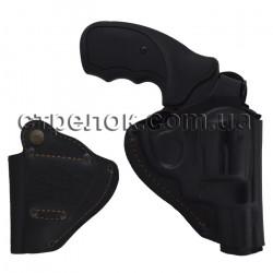 Кобура поясная для револьвера, кожаная формованная