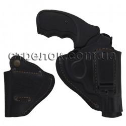 Кобура поясная для револьвера, кожаная формованная со скобой