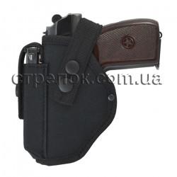 Кобура поясная Стрелок для ПМ с подсумком под магазин, черная (для левши)
