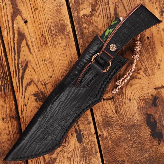 Нож ручной работы Camo Green (сталь М390)