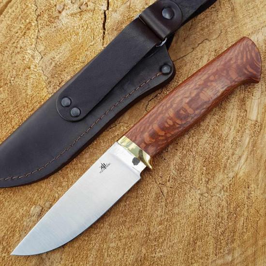 Нож ручной работы KL 95X18 леопардвуд