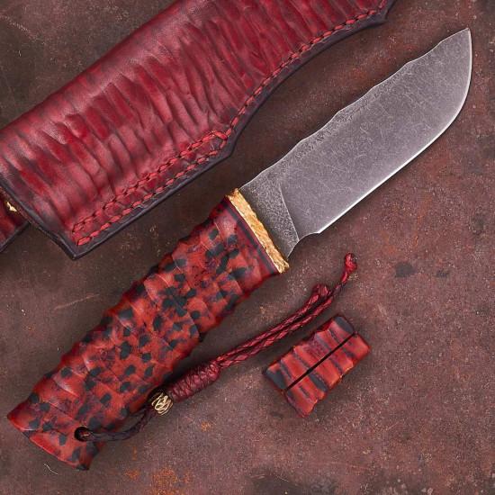 Нож ручной работы Крепкий (сталь ДИ90-МП)