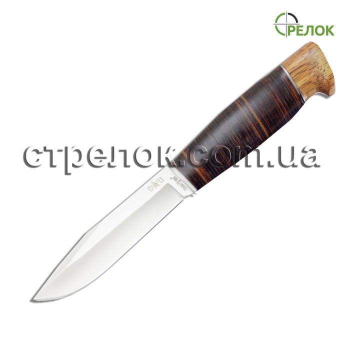 Нож охотничий GW 2565 L (рукоять - дерево,кожа)