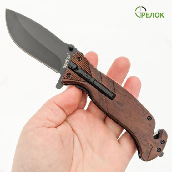 Нож складной 25560 (полуавтомат) с огнивом