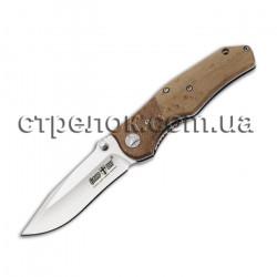Нож складной E-103 (рукоять - дерево)