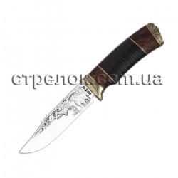 Нож охотничий Волкодав (рукоять - кожа)