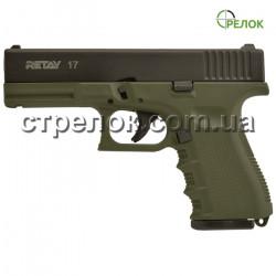 Пистолет стартовый Retay G17 Olive