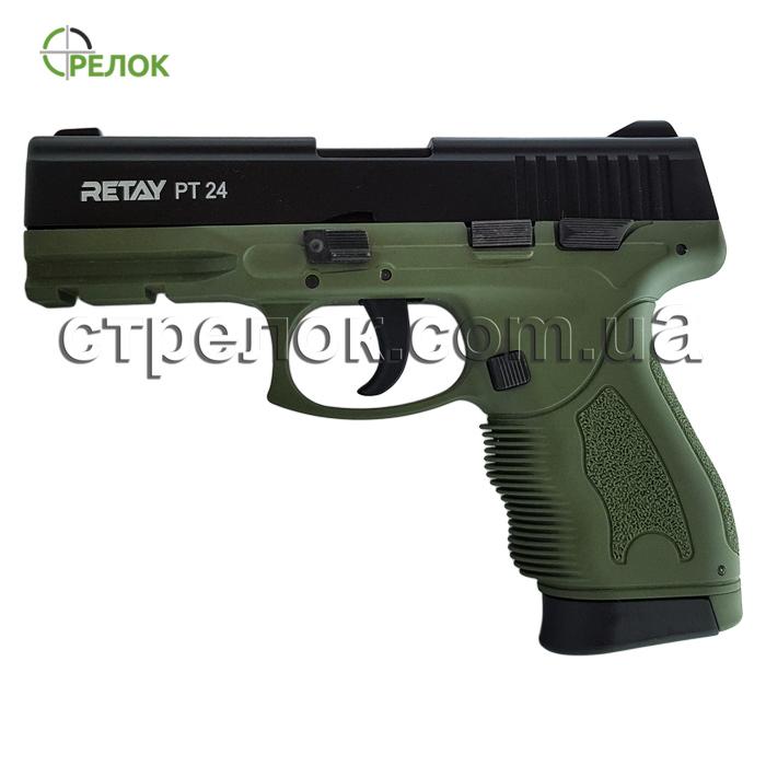 Пистолет стартовый Retay PT24 Olive