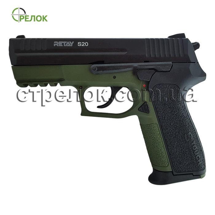 Пистолет стартовый Retay S20 Olive