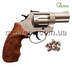 """Револьвер под патрон Флобера Stalker 2.5"""" satin коричневая рукоять"""