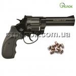 """Револьвер под патрон Флобера Stalker 4.5"""" black черная рукоять"""