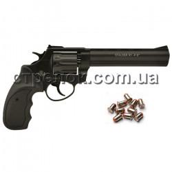"""Револьвер под патрон Флобера Stalker 6"""" black черная рукоять"""