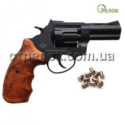 """Револьвер под патрон Флобера Stalker S 3"""" black коричневая рукоять"""
