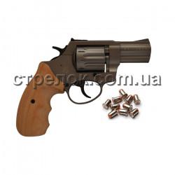 """Револьвер под патрон Флобера Stalker 2.5"""" titanium бук"""