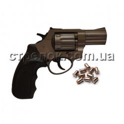 """Револьвер под патрон Флобера Stalker 2.5"""" titanium черный пластик"""