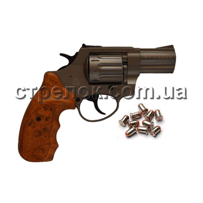 """Револьвер под патрон Флобера Stalker 2.5"""" titanium коричневая рукоять"""