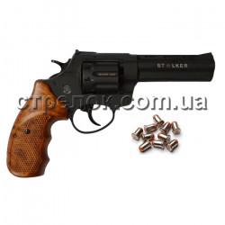 """Револьвер под патрон Флобера Stalker 4.5"""" black коричневая рукоять"""