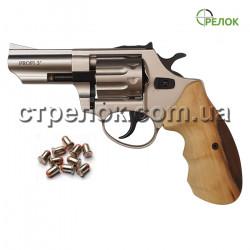 """Револьвер под патрон Флобера Profi 3"""" сатин бук"""