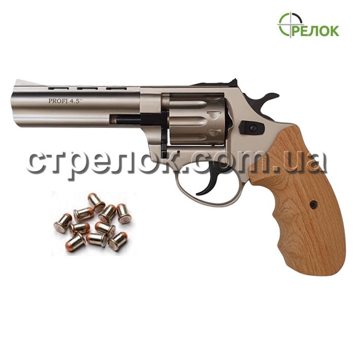 """Револьвер под патрон Флобера Profi 4.5"""" сатин бук"""