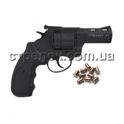 Револьвер под патрон Флобера Streamer R2 black черный пластик