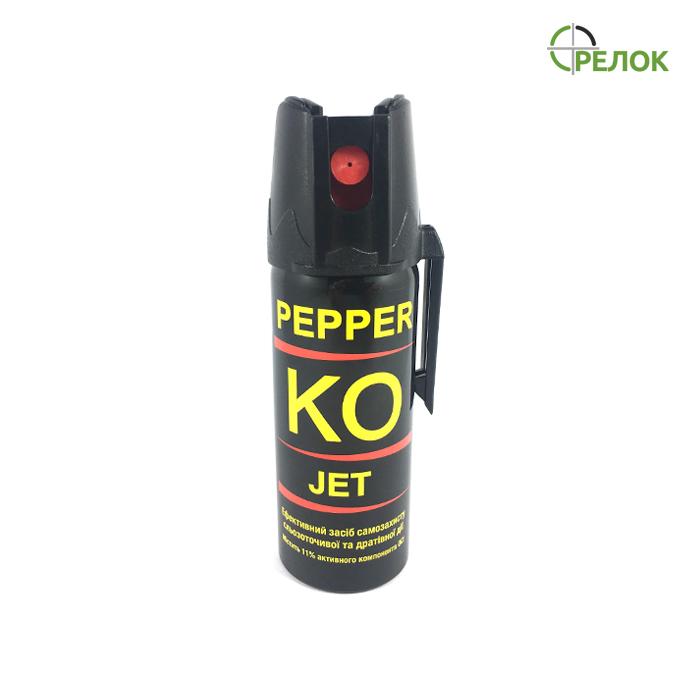 Газовый баллончик Klever Pepper KO Jet струйный, 50 мл