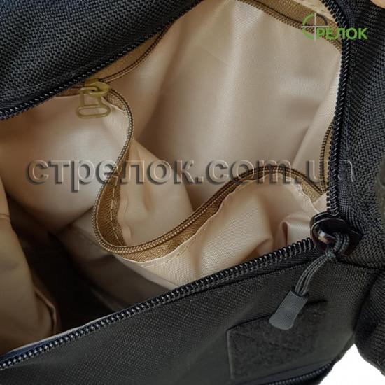 Сумка синтетическая плечевая с кобурой Стрелок СП-5, коричневая