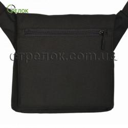 Сумка синтетическая плечевая с кобурой Стрелок СП-6, черная