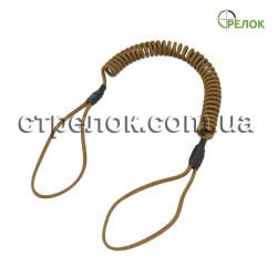 Шнур страховочный спиральный (мягкая петля), койот