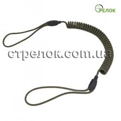 Шнур страховочный спиральный (мягкая петля), олива